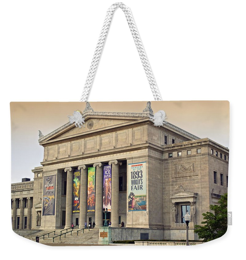 Chicago Weekender Tote Bag featuring the photograph Field Museum South Facade by Thomas Woolworth