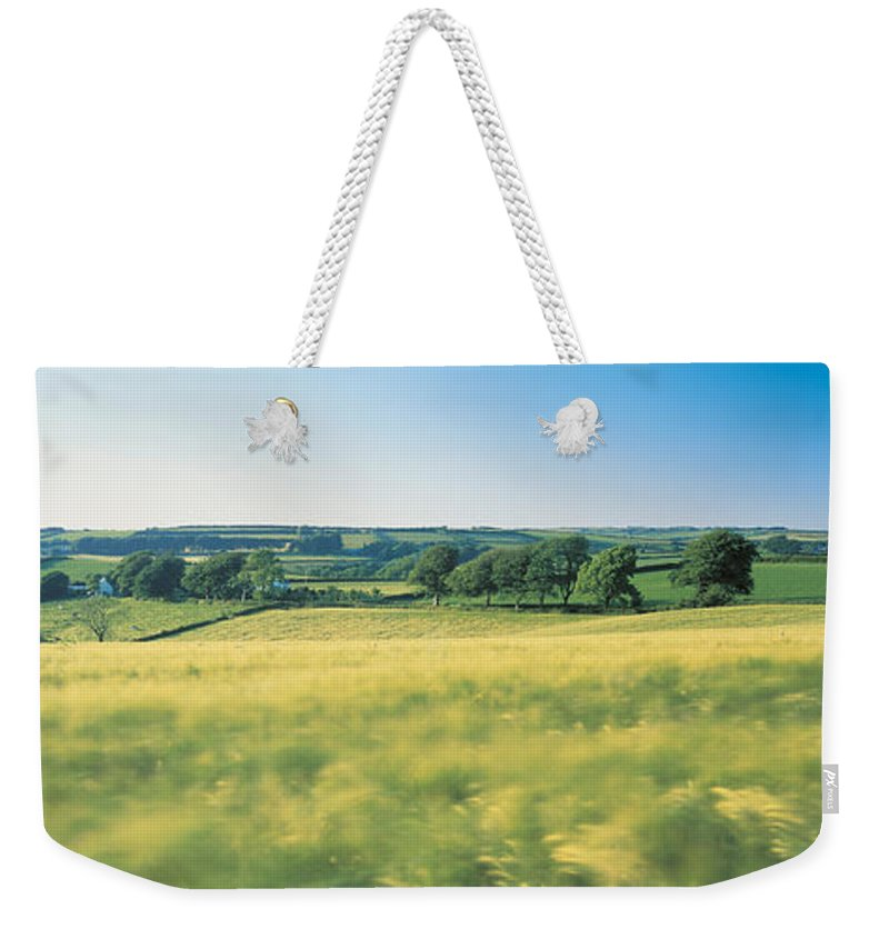 Photography Weekender Tote Bag featuring the photograph Field Near Barnstaple, North Devon by Panoramic Images
