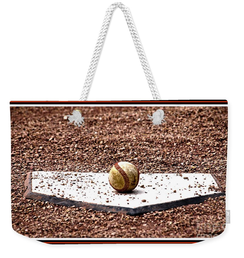 Field Of Dreams Weekender Tote Bag featuring the photograph Field Of Dreams The Ball by Susanne Van Hulst