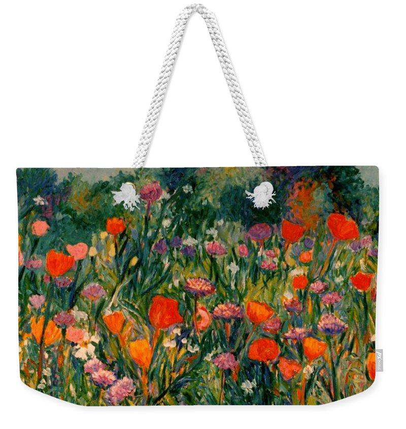Flowers Weekender Tote Bag featuring the painting Field Of Flowers by Kendall Kessler