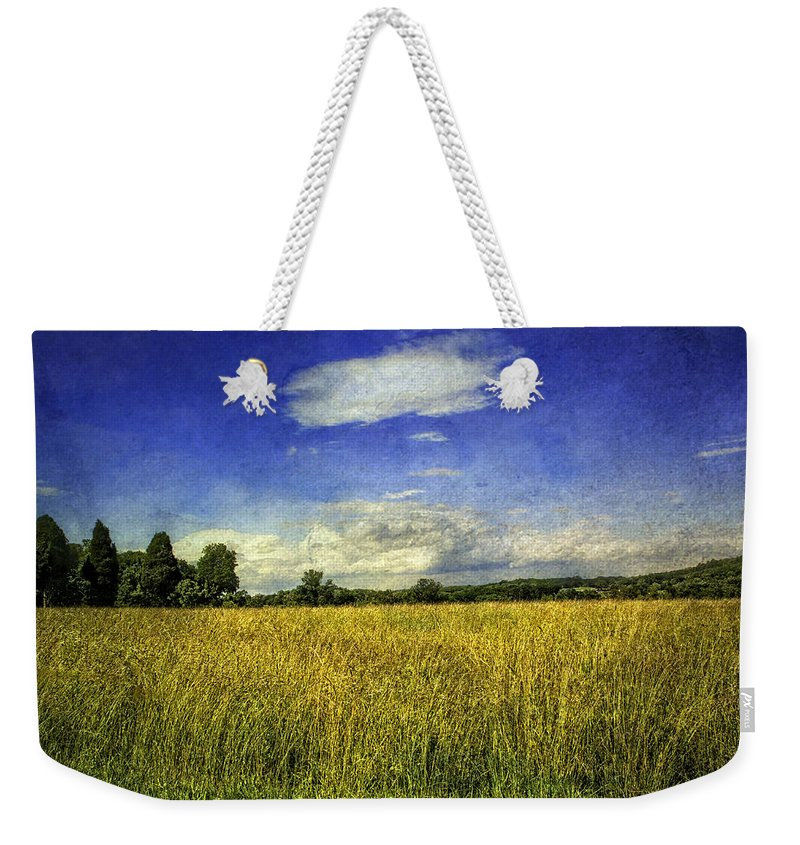 Field Weekender Tote Bag featuring the photograph Field Of Gold by Madeline Ellis