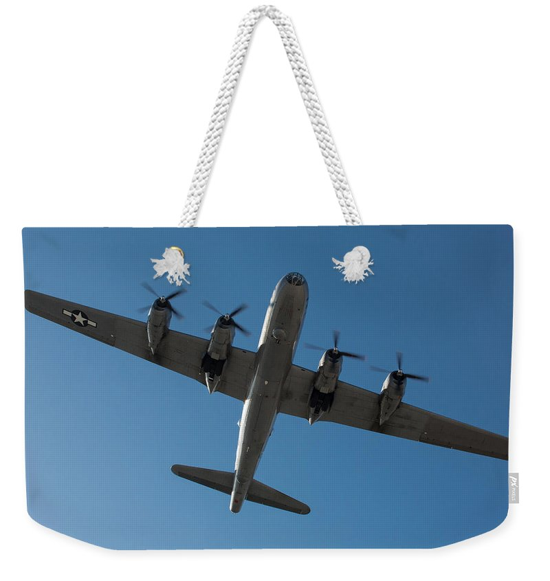 Fifi Weekender Tote Bag featuring the photograph Fifi Overhead by John Daly