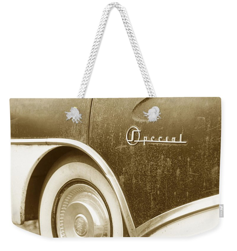 Transportation Weekender Tote Bag featuring the photograph Fifties Buick by Jim Smith