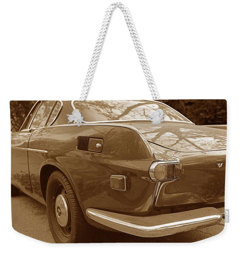 Transportation Weekender Tote Bag featuring the photograph Fifties Volvo I I by Jim Smith