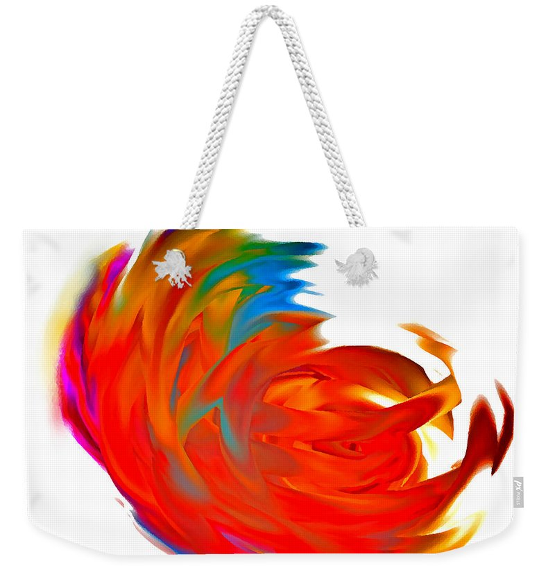 Fight Weekender Tote Bag featuring the digital art Fight Of Colors by Marcello Cicchini