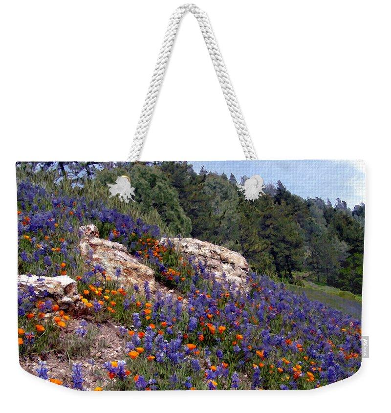 Flowers Weekender Tote Bag featuring the photograph Figueroa Mountain Splendor by Kurt Van Wagner