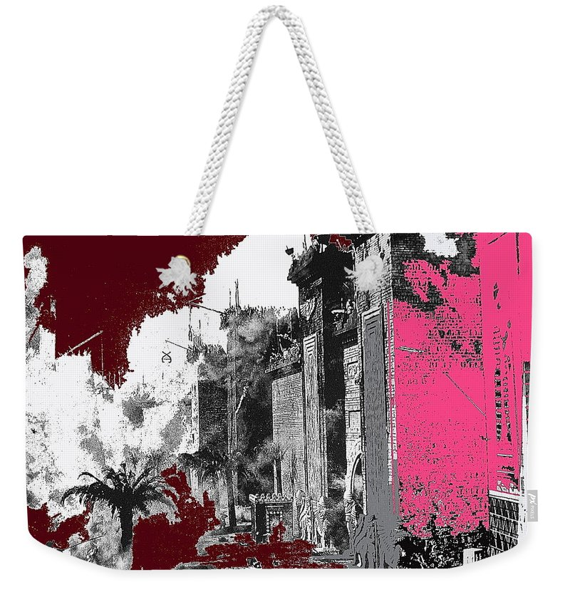 Film Homage D.w. Griffith Intolerance 1916 Fall Of Babylon 1916 Color Added Weekender Tote Bag featuring the photograph Film Homage D.w. Griffith Intolerance 1916 Fall Of Babylon 1916-2012 by David Lee Guss
