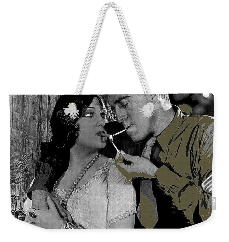 Film Homage Sadie Thompson 1 Gloria Swanson And Raoul Walsh 1927 Weekender Tote Bag featuring the photograph Film Homage Sadie Thompson 1 Gloria Swanson And Raoul Walsh 1927-2014 by David Lee Guss