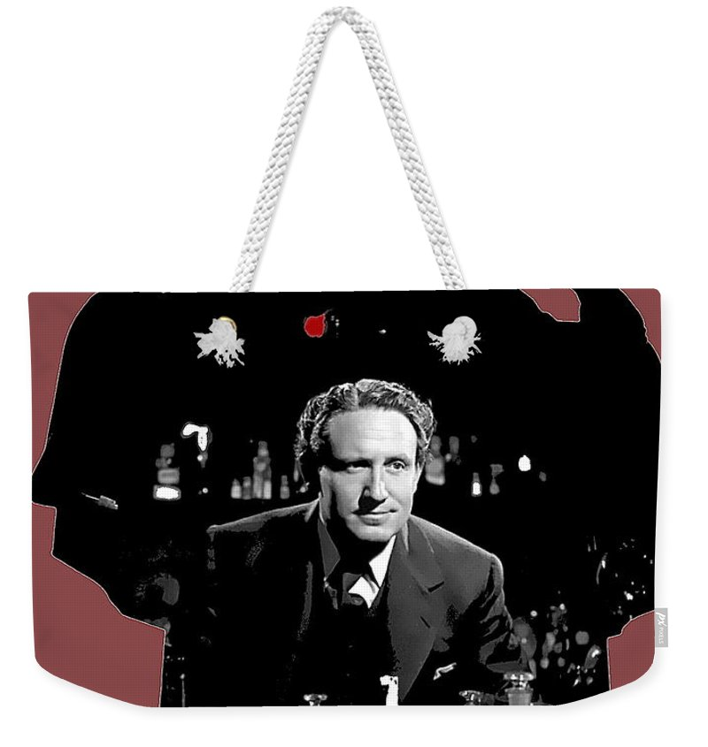 Film Homage Spencer Tracy Dr. Jekyll And Mr. Hyde 1941 Weekender Tote Bag featuring the photograph Film Homage Spencer Tracy Dr. Jekyll And Mr. Hyde 1941-2014 by David Lee Guss