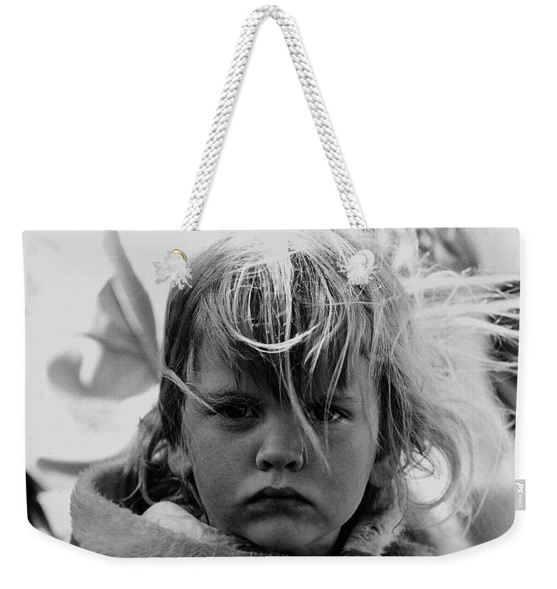 Film Noir Jean Simmons Robert Mitchum Rko Angel Face 1953 Demolition Derby Tucson Arizona 1968 Weekender Tote Bag featuring the photograph Film Noir Jean Simmons Robert Mitchum Rko Angel Face 1953 Demolition Derby Tucson Arizona 1968 by David Lee Guss