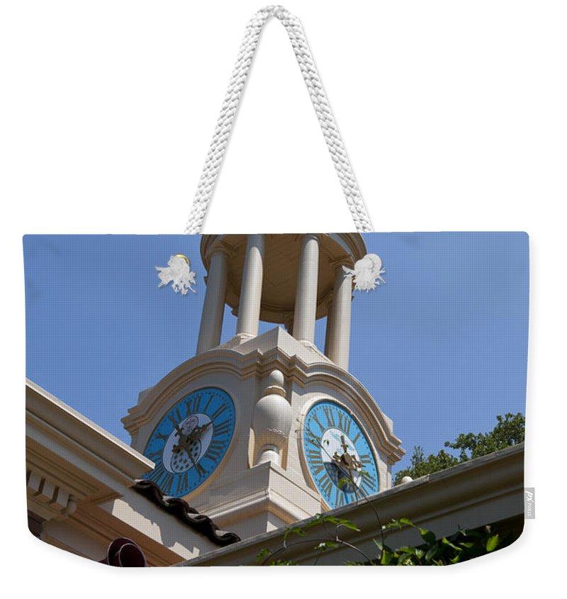 Filoli Weekender Tote Bag featuring the photograph Filoli Garden Clock Tower by Jason O Watson