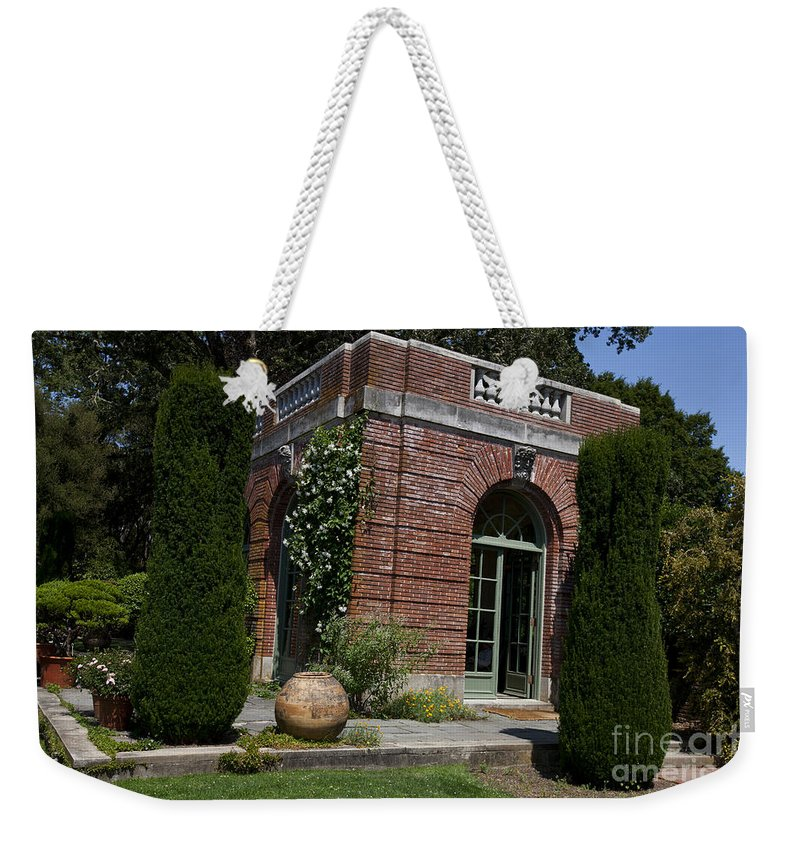Filoli Weekender Tote Bag featuring the photograph Filoli Garden House by Jason O Watson
