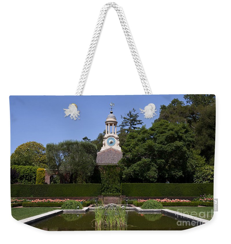 Filoli Weekender Tote Bag featuring the photograph Filoli Garden With Pond by Jason O Watson