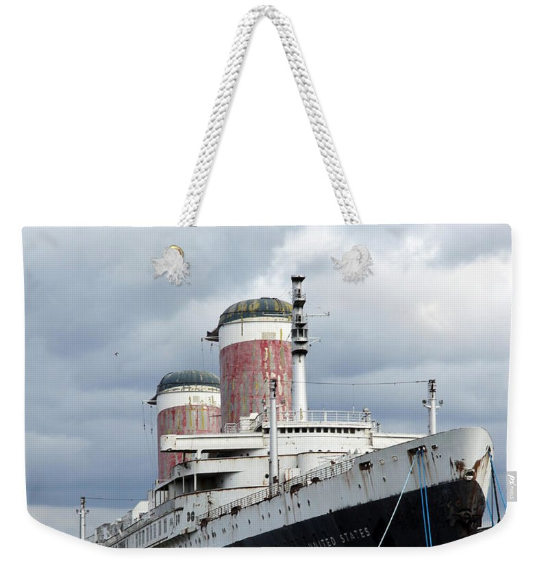 Ship Weekender Tote Bag featuring the photograph Final Destination - United States Liner by Christiane Schulze Art And Photography