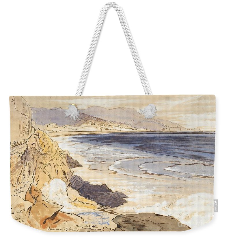 C19th Weekender Tote Bag featuring the painting Finale by Edward Lear