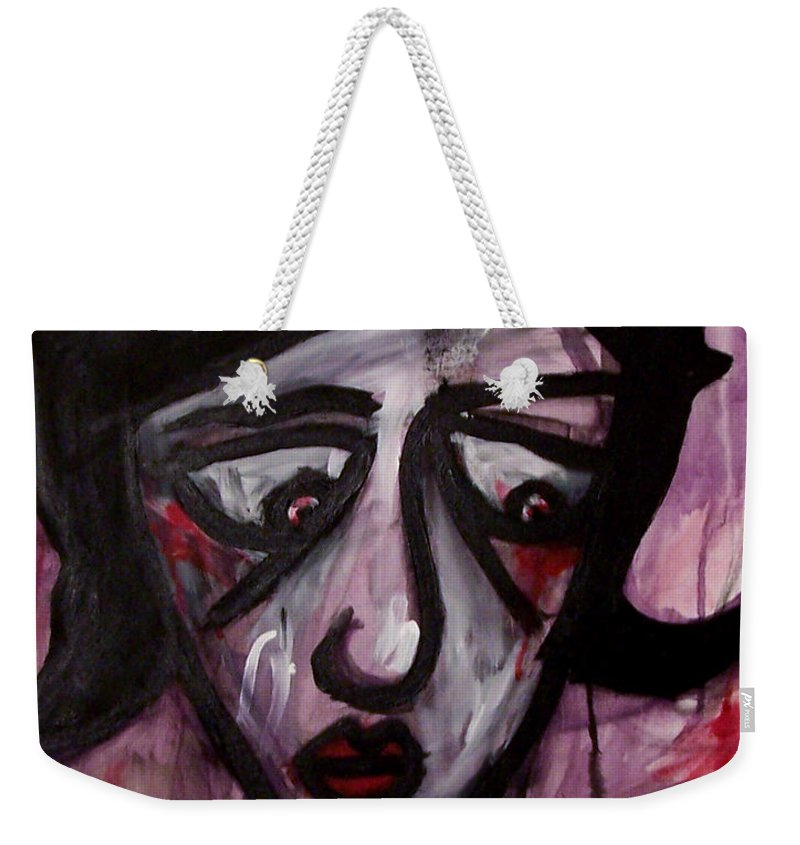 Portait Weekender Tote Bag featuring the painting Finals by Thomas Valentine