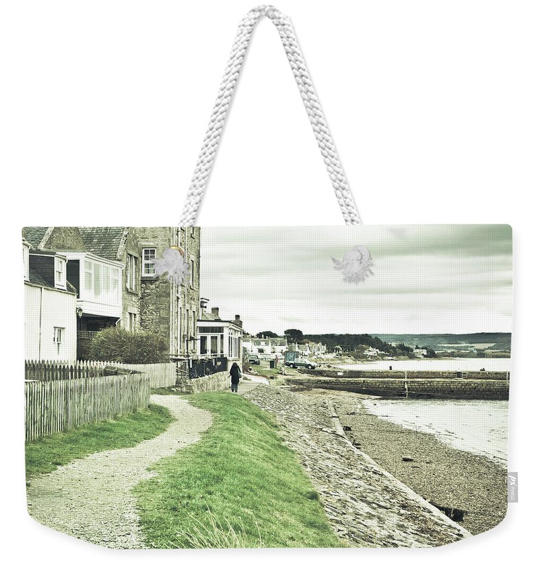 .moray Weekender Tote Bag featuring the photograph Findhorn Path by Tom Gowanlock