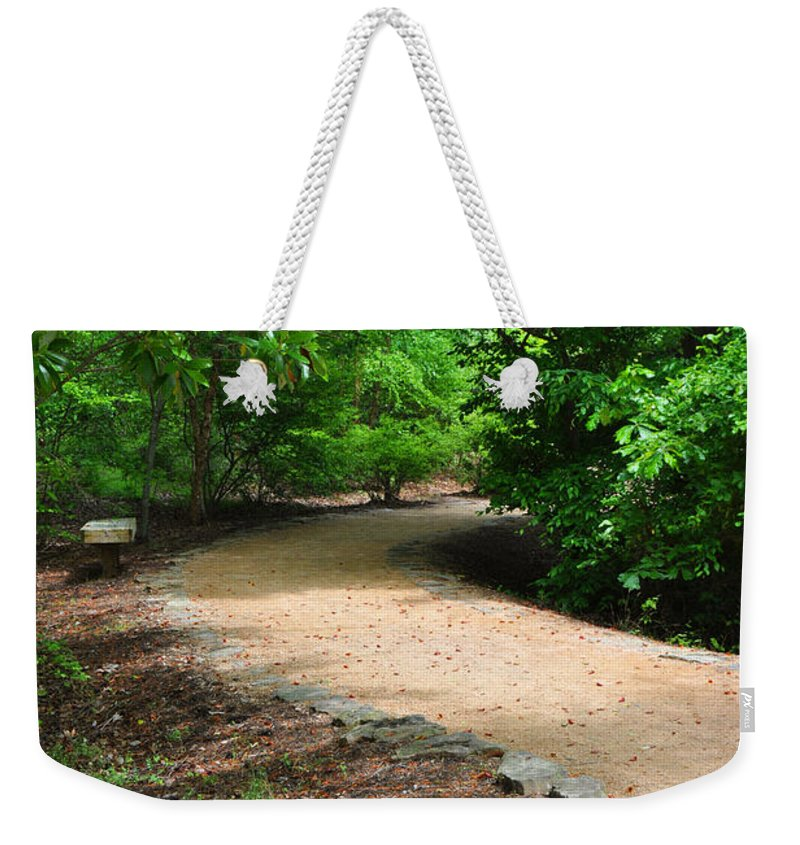 Wright Weekender Tote Bag featuring the photograph Finding The Way - Yates Mill by Paulette B Wright