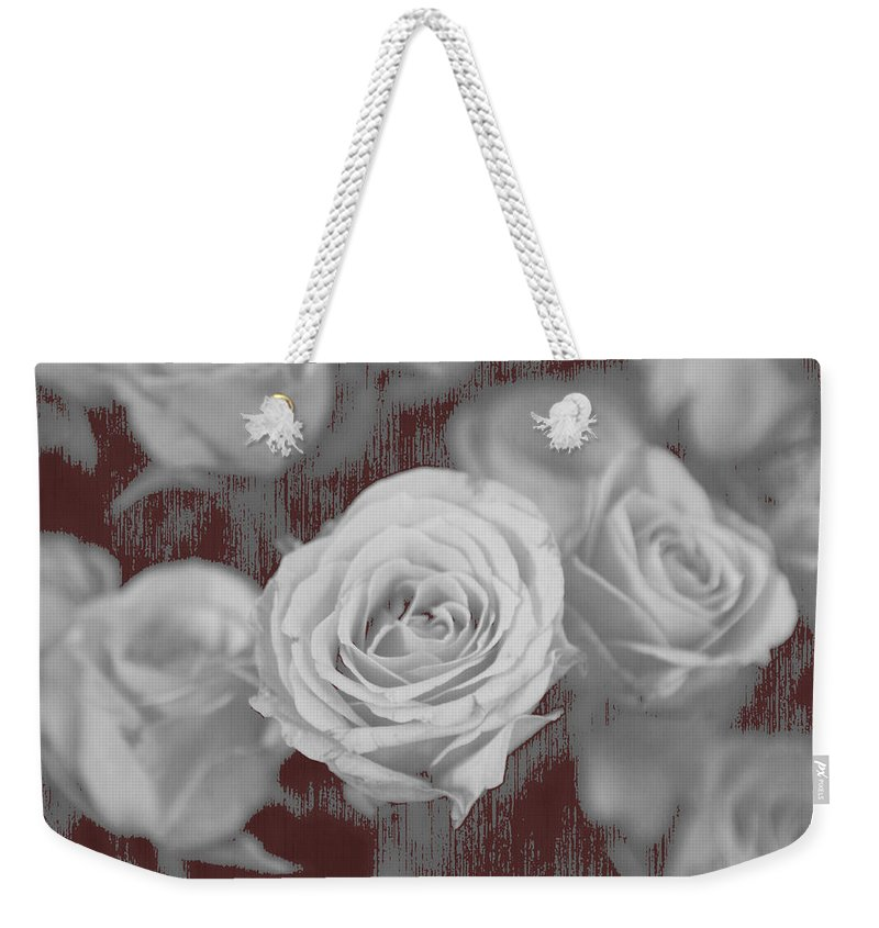 Roses Weekender Tote Bag featuring the photograph Finding Your Place by Amanda Barcon