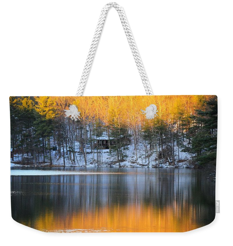 Landscape Weekender Tote Bag featuring the photograph Fire And Ice by Jack Harries