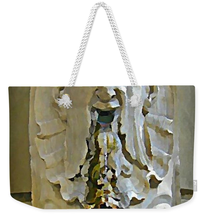Fire And Ice Weekender Tote Bag featuring the painting Fire And Ice by John Malone Halifax Artist