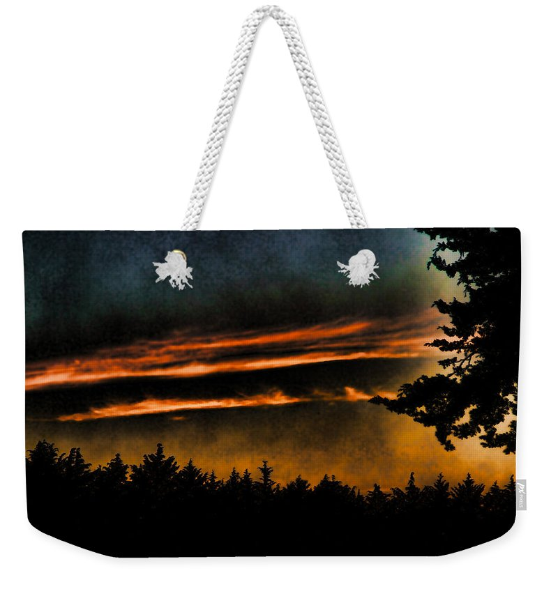 Clouds Weekender Tote Bag featuring the photograph Fire Clouds by Agustin Uzarraga