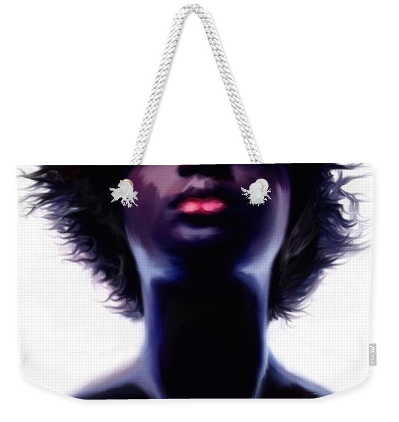 Joseph Newton Weekender Tote Bag featuring the painting Fire by Joseph A Newton