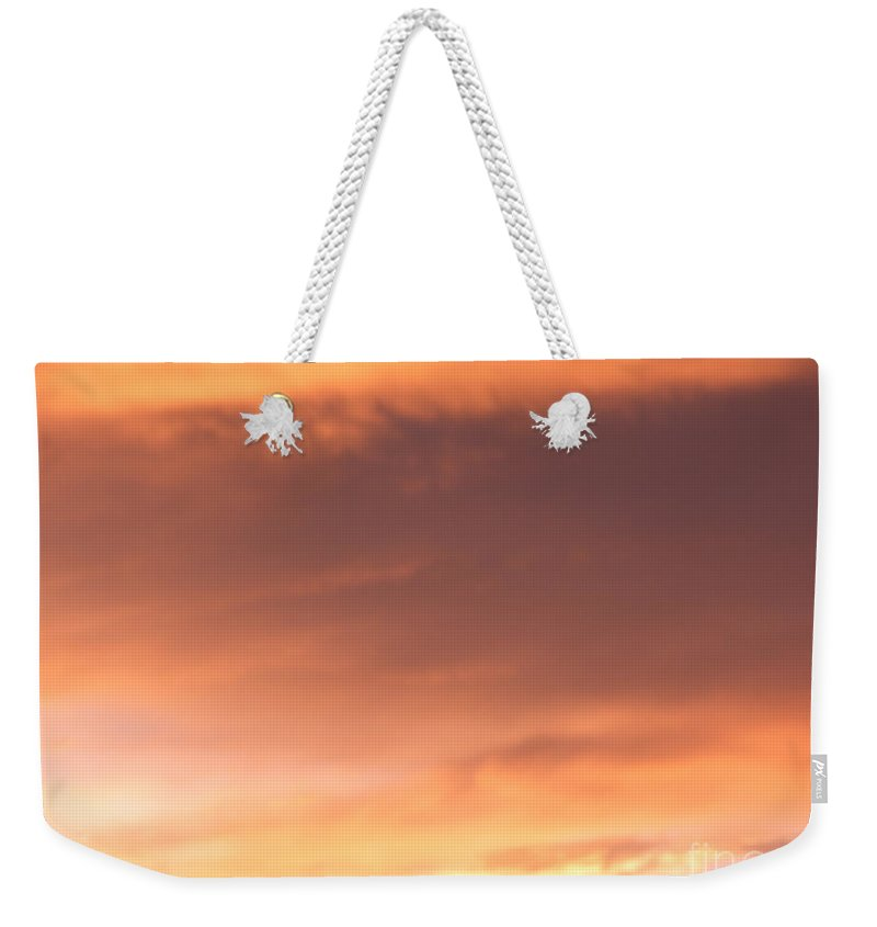 Sky Weekender Tote Bag featuring the photograph Fire Skyline by Joseph Baril