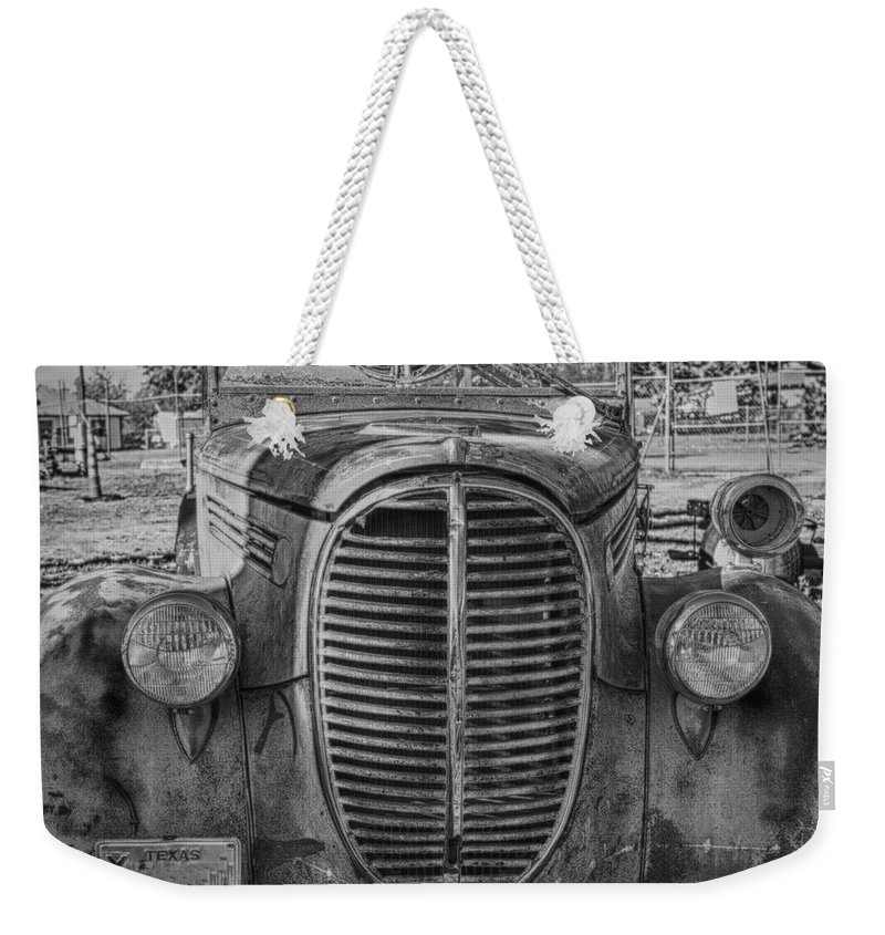 Fire Truck Weekender Tote Bag featuring the photograph Fire Truck by Erika Weber