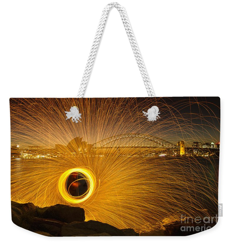 Sydney Weekender Tote Bag featuring the photograph Fireflies by Andrew Paranavitana