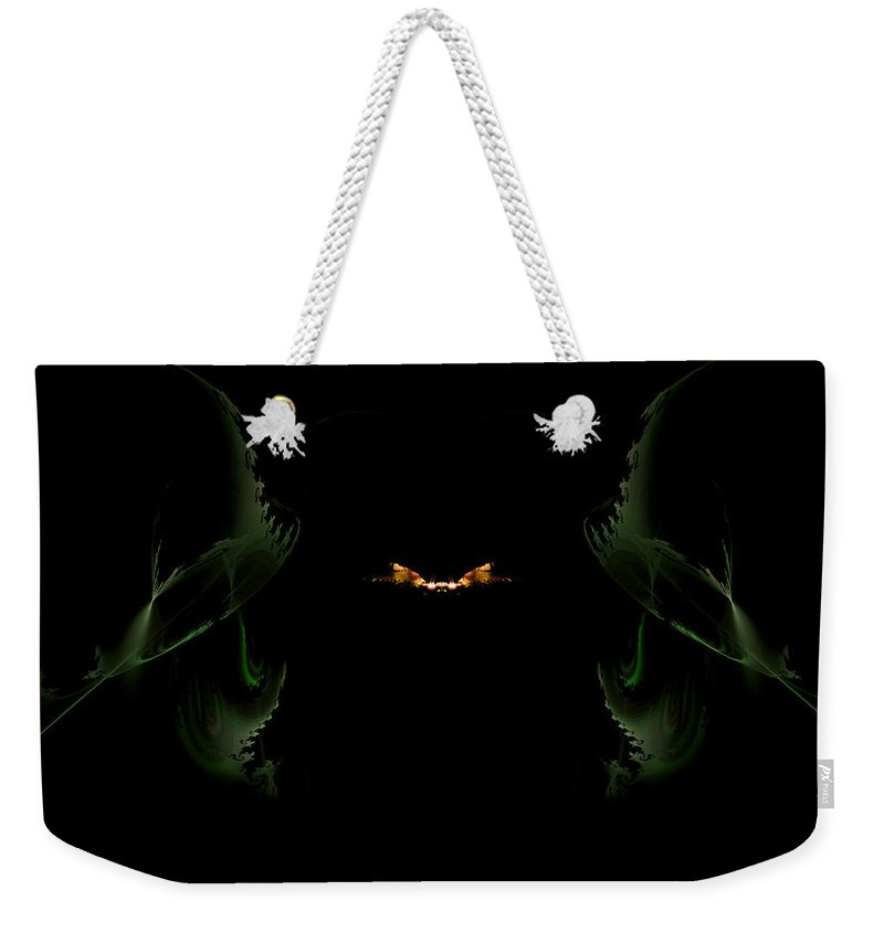Fractal Weekender Tote Bag featuring the digital art Firefly by GJ Blackman