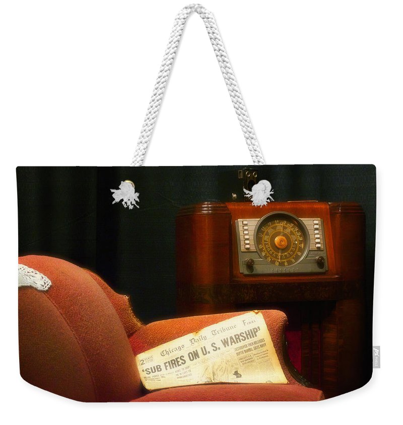 Ww Ii Weekender Tote Bag featuring the photograph Fireside Chats With Fdr 01 by Thomas Woolworth