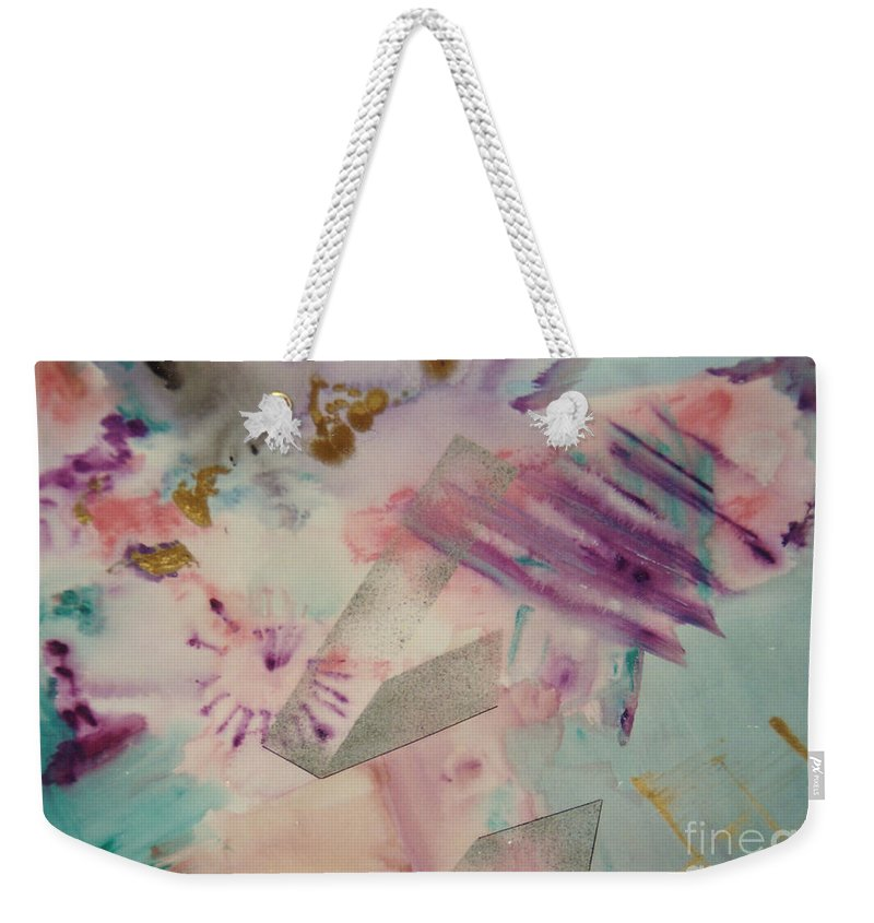 Abstract Weekender Tote Bag featuring the painting Fireworks by Graciela Castro