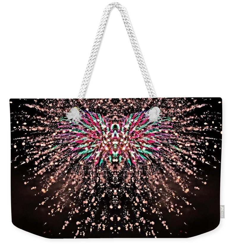 Fireworks Weekender Tote Bag featuring the photograph Fireworks Phoenix by Alice Gipson