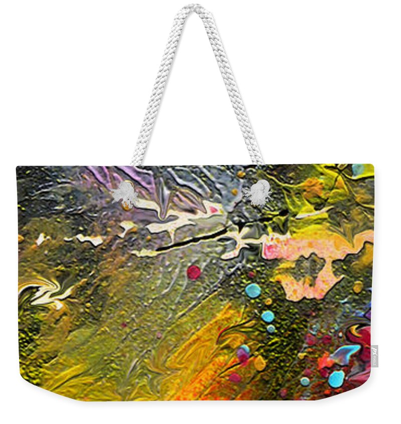 Miki Weekender Tote Bag featuring the painting First Light by Miki De Goodaboom