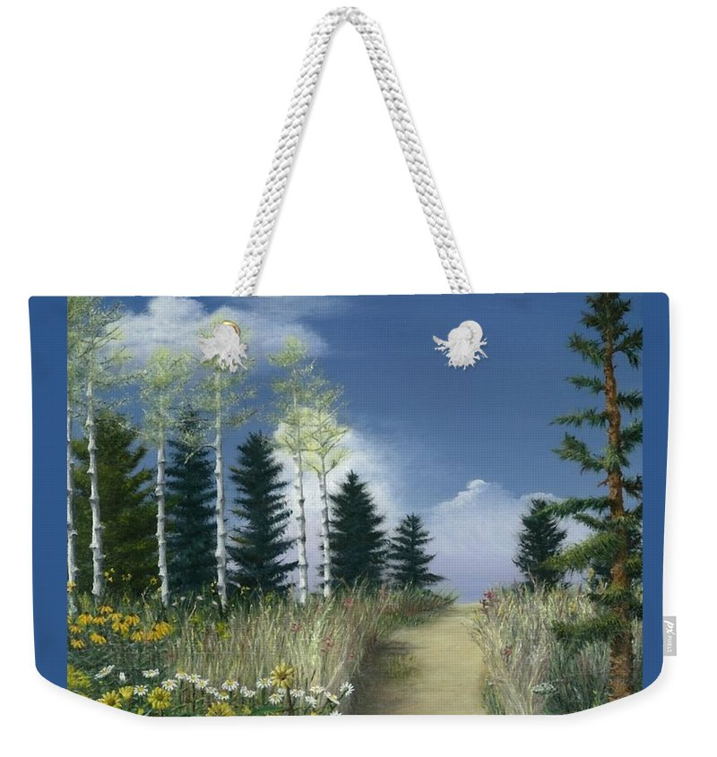 Nature Weekender Tote Bag featuring the painting First Love by Nancy Dunham