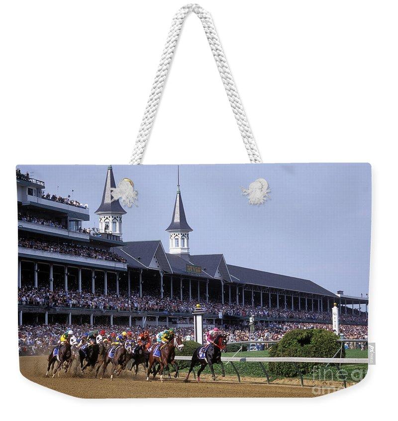 Horse Racing Weekender Tote Bags