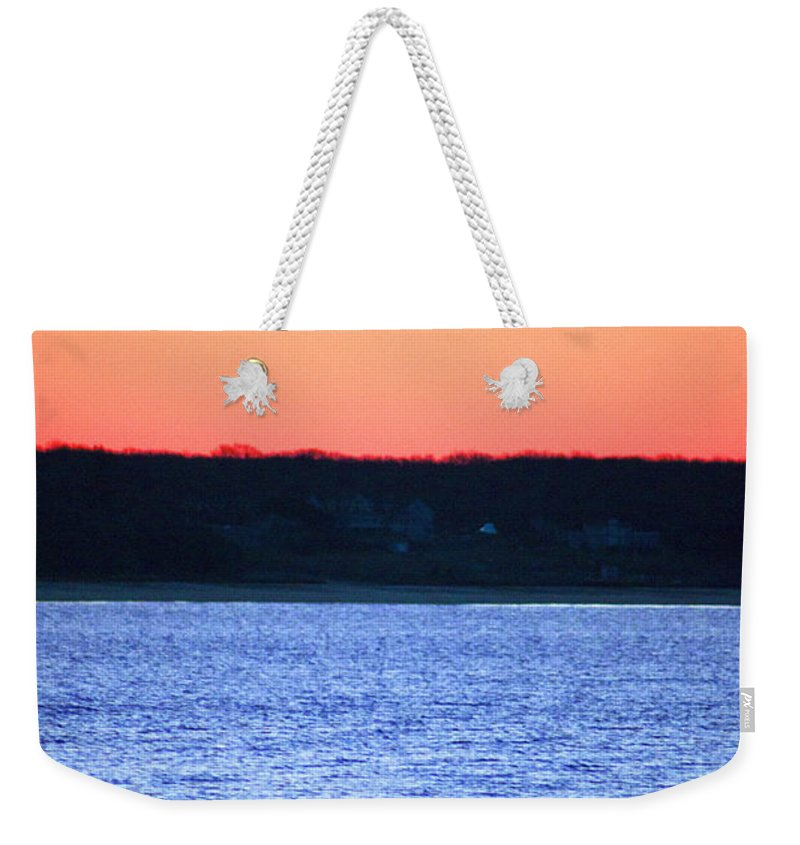 Swan Weekender Tote Bag featuring the photograph First To Sea by Joe Geraci