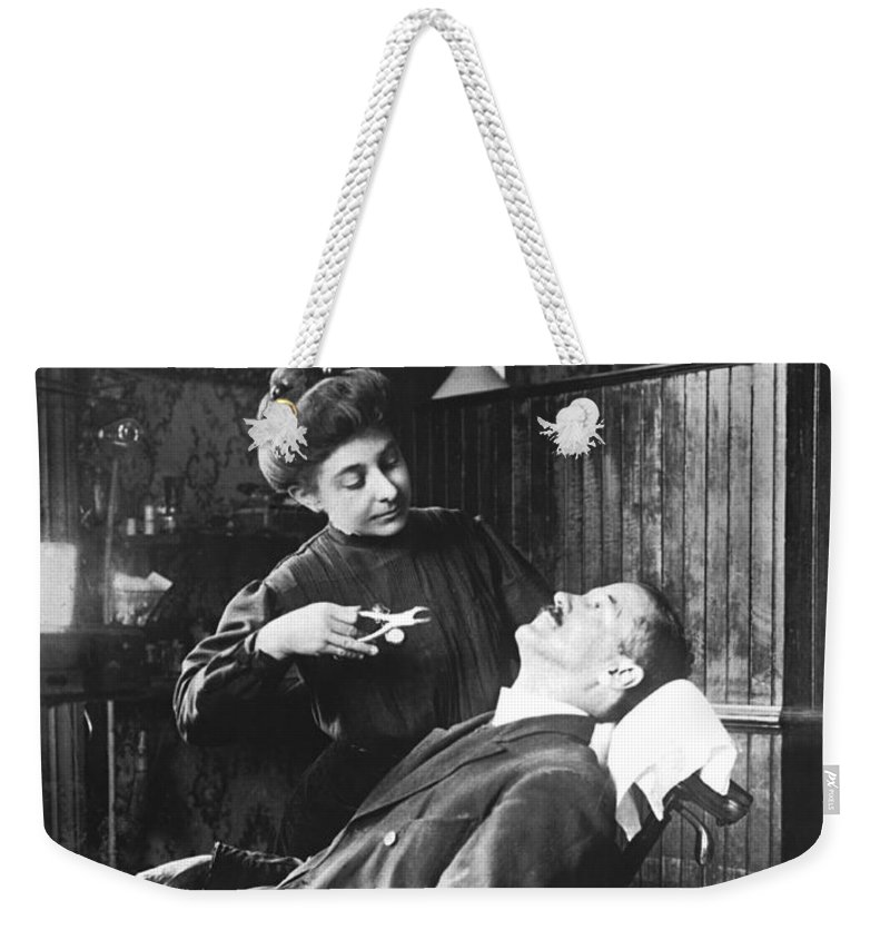1035-286 Weekender Tote Bag featuring the photograph First Women Dentists by Underwood Archives