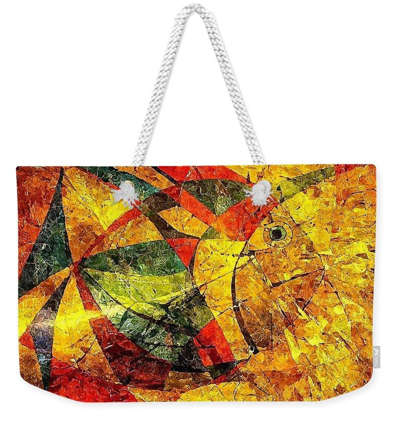 Graphics Weekender Tote Bag featuring the digital art Fish 369 - Marucii by Marek Lutek