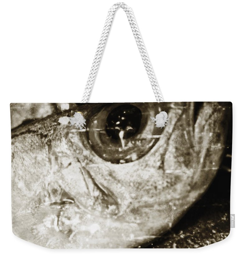 Abstract Weekender Tote Bag featuring the photograph Fresh Fish by Skip Nall