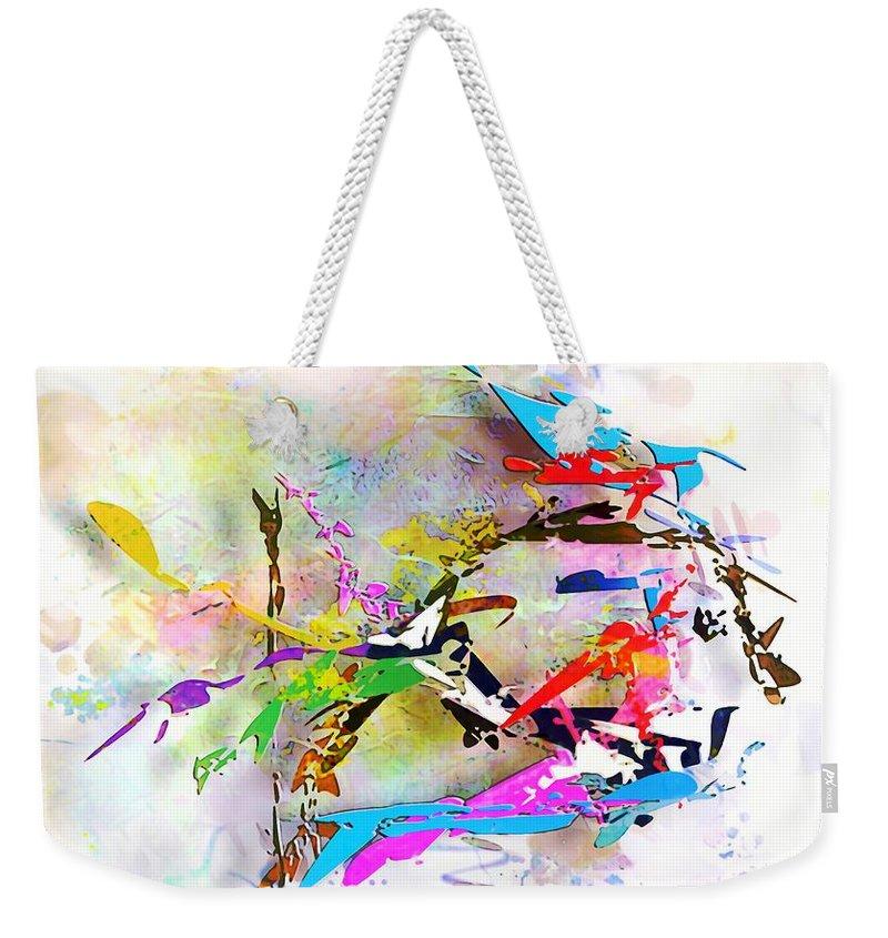 Painting Weekender Tote Bag featuring the digital art fish XXIV - marucii by Marek Lutek