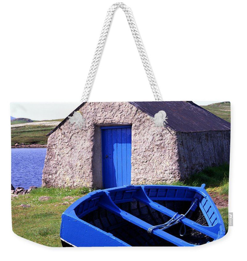 Great Britain Weekender Tote Bag featuring the photograph Fishing Blues by Edmund Nagele
