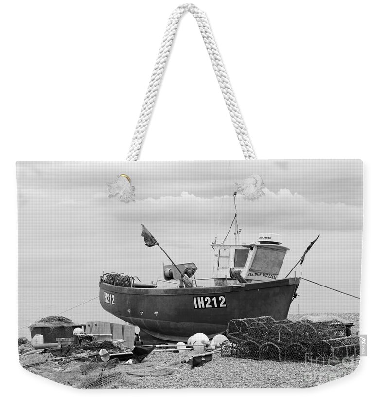 Fishing Boat Weekender Tote Bag featuring the photograph Fishing Boat by Julia Gavin