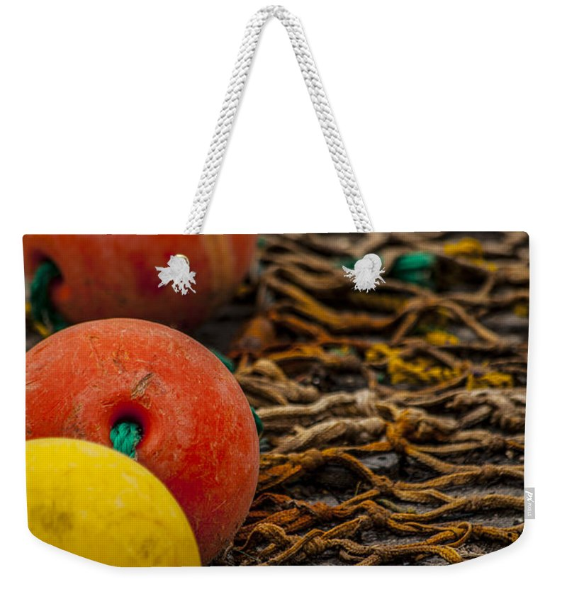 Fishing Gear Weekender Tote Bag featuring the photograph Fishing Gear Abstract by Karol Livote
