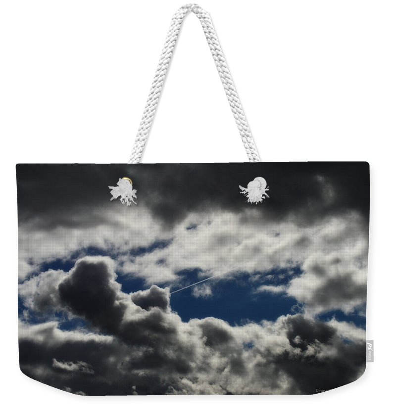 Sky Weekender Tote Bag featuring the photograph Fishing In The Sky by Donna Blackhall