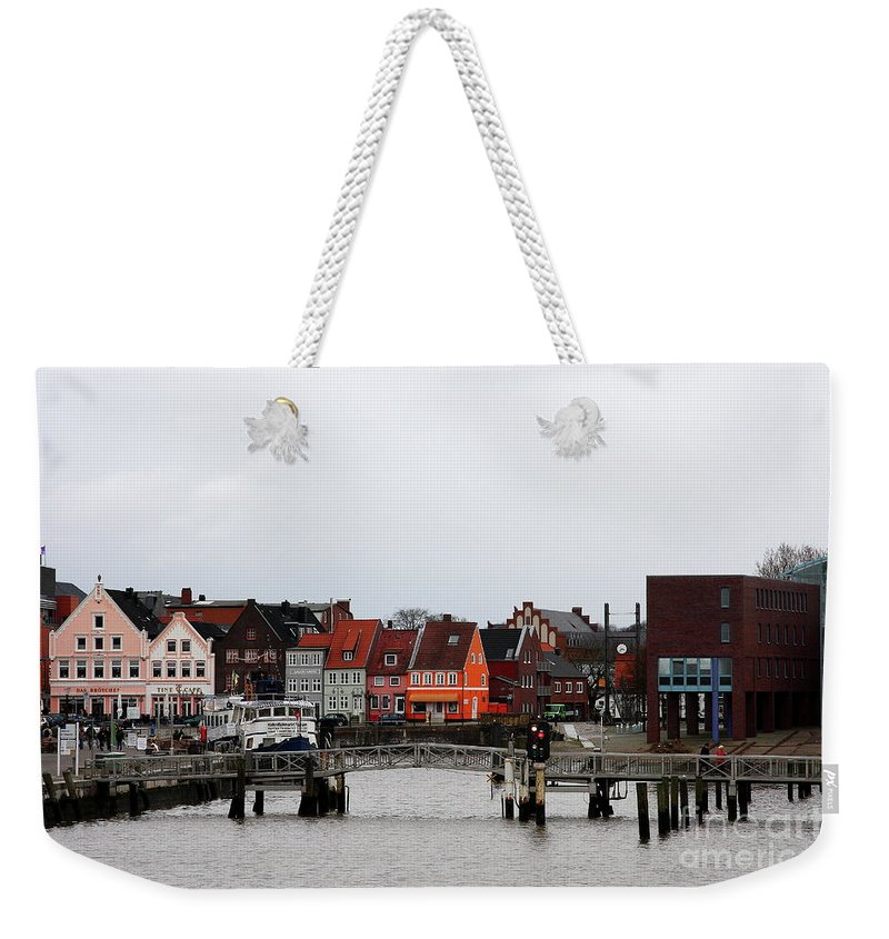 Husum Weekender Tote Bag featuring the photograph Fishing Port Husum by Christiane Schulze Art And Photography