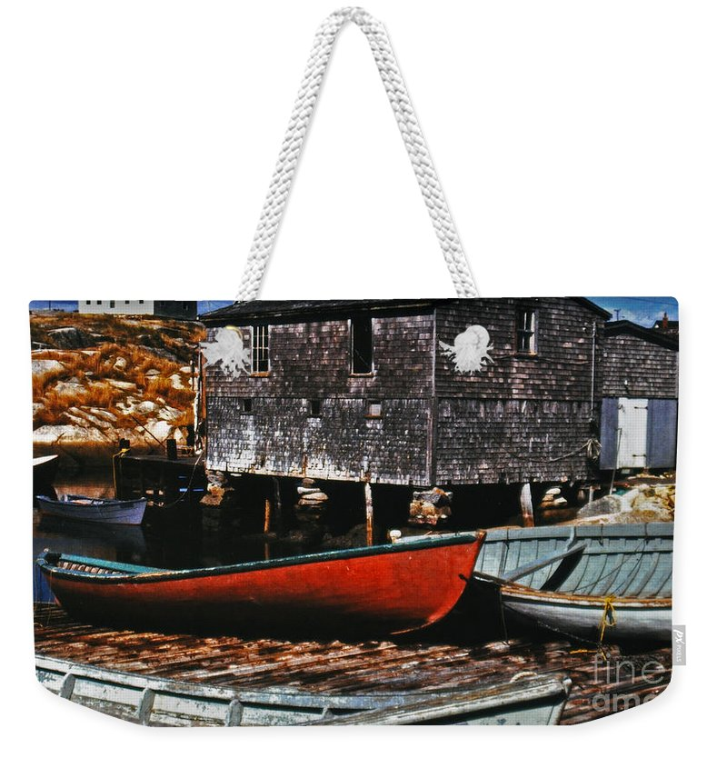 Boats Weekender Tote Bag featuring the photograph Fishing Village by Lydia Holly