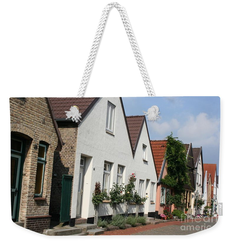 Fishingvillage Weekender Tote Bag featuring the photograph Fishingvillage Holm by Christiane Schulze Art And Photography