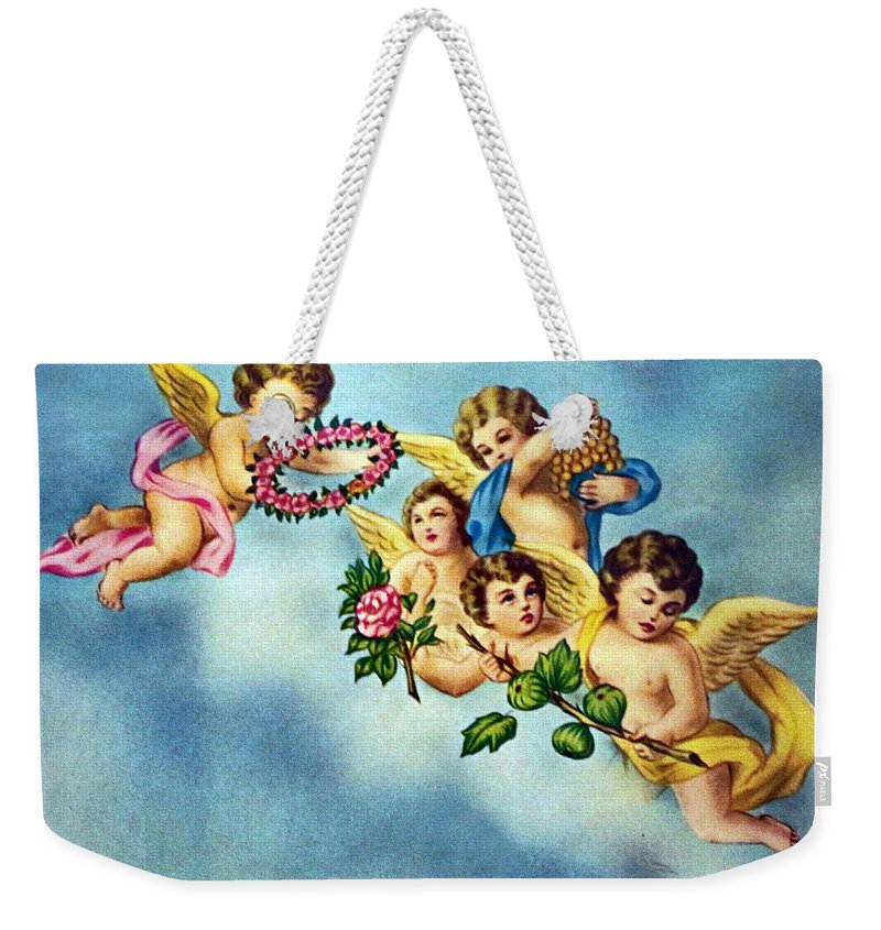 Angels Weekender Tote Bag featuring the photograph Five Angels by Munir Alawi